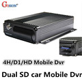 Frete Grátis DVR Móvel, cartão SD de apoio duplo, H.264 4CH movimento detetive, ciclo de gravação, I/O, G-sensor, Veículo DVR GS-8204SD