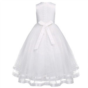 Image 3 - iEFiEL Teenage Kids Girls Sleeveless Layered Tulle Flower Girl Dress Princess Pageant Wedding Bridesmaid Ball Gown Party Dress
