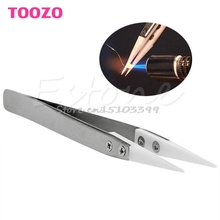 Heat Resistant Stainless Steel Ceramic Tweezers Pointed Tip For RDA RBA Coils #G205M# Best Quality