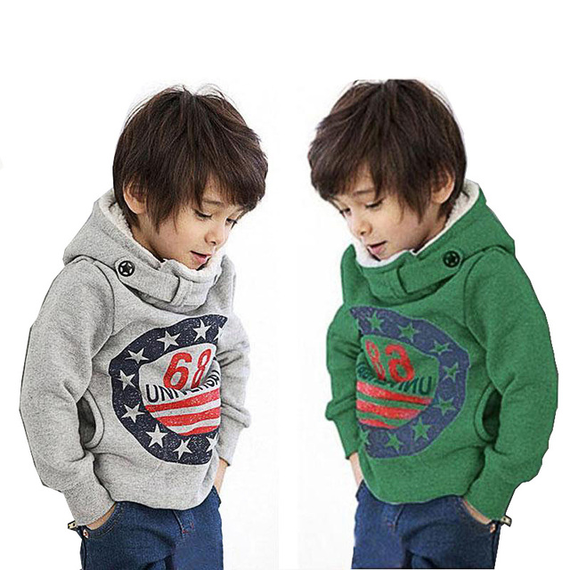 2018 Autumn Children's Hoodies Full Sleeve Boys Girls Fleece Sweatshirts Baby 68 Printed Pullover Hooded Outerwear Kids Clothes