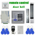 DIYSECUR Remote Control Door Bell 125KHz RFID Keypad Access Control System Security Kit + 280kg 600lb Magnetic Lock KD2000