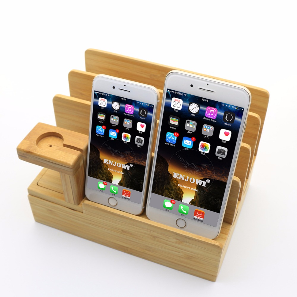 Multi Device Charging Station Dock Organizer Multiple Finishes Available For Laptops Tablets And Phone Le Watch In Mobile Holders