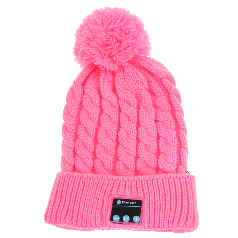 Women Winter Warm Wireless Sport Bluetooth Headset Smart Cap Headphone Speaker Soft Warming Bluetooth Beanie Hat For Smartphone wireless bluetooth music beanie cap stereo headset to answer the call of hat speaker mic knitted cap