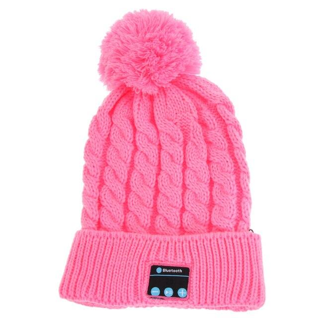 4f971c93178 Women Winter Warm Wireless Sport Bluetooth Headset Smart Cap Headphone  Speaker Soft Warming Bluetooth Beanie Hat