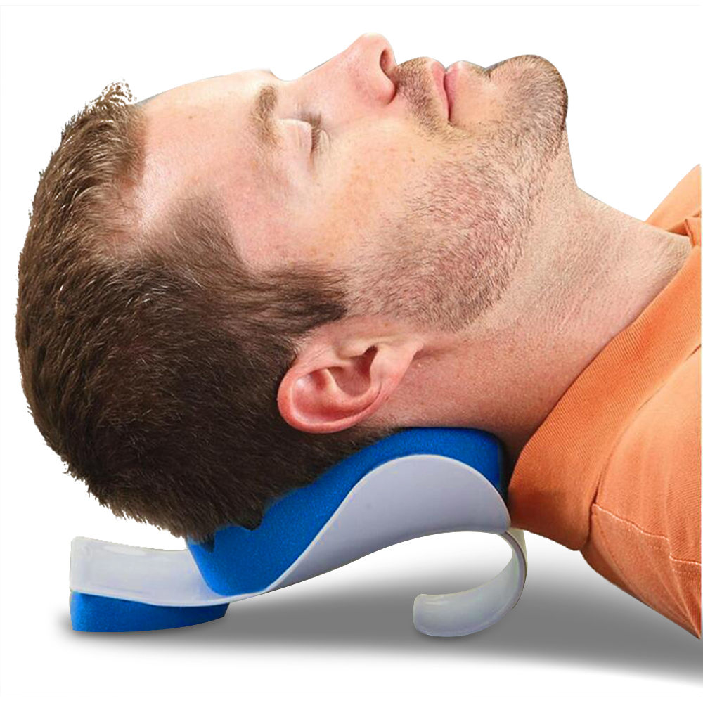 neck shoulder relaxer massager soft brace support device neck tension reliever sponge pillow for headache neck pain health care