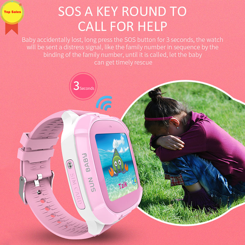 2019 Kids Smart Watch Wrist Fashion New GPS Tracker for Boys Girls with Camera Relogio Android SmartWatch Phone call