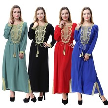 8a0e7c8af Loose and comfortable national costume Muslim decals include belt robes  skirt Arab Middle East Dubai Saudi