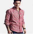 Hot Seller 2016 Spring Men Long sleeve Casual Tartan Plaid Grid Shirts Fashion Brand Plus Size M-XXXL