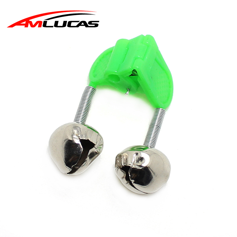 b902d90cde69 Amlucas 1pcs Fishing Rod Bells Rod Clamp Tip Clip Bells Ring Glow In The  Dark Green