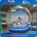 Frete grátis!! 3 m do globo da neve, Natal Globo de Neve inflável Tenda Bolha pés Barraca Da Promoção humana Inflável globo de neve