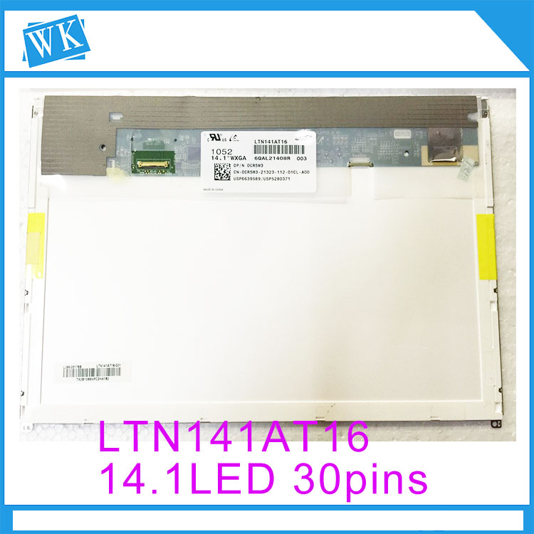Free shipping 14.1 LCD LED screen for DELL E6410 notbook LP141WX5 TPP1 LTN141AT16 B141EW05 V.5 N141I6-D11 14.1LED 30pins figure skating clothing black ice skating dress custome hot sale girls skating suit absorb sweat washable spandex dance wear