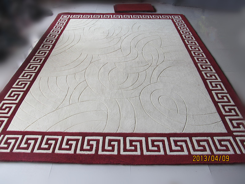 Acryl Teppich Kurze Purpurrot Chinesischen Stil Moderne Wohnzimmer Tisch Schlafzimmer Fussmatten 160 230China
