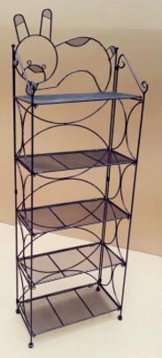 Mask shelf display shelf. Cosmetics. Wrought iron supporter. Console layers of nail polish