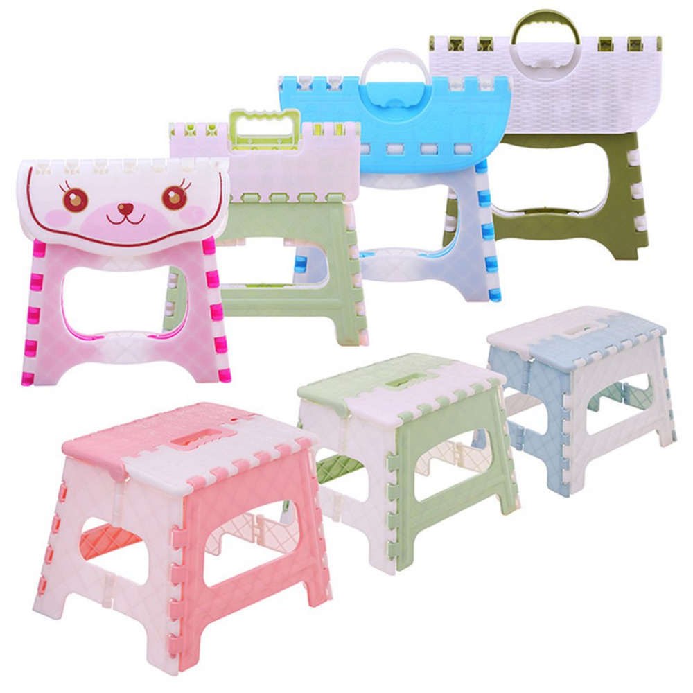 Astounding Folding Step Stool Lightweight Step Stool Mini Cartoon Safe Stool For Kitchen Bathroom Bedroom Kids Or Adults Ibusinesslaw Wood Chair Design Ideas Ibusinesslaworg