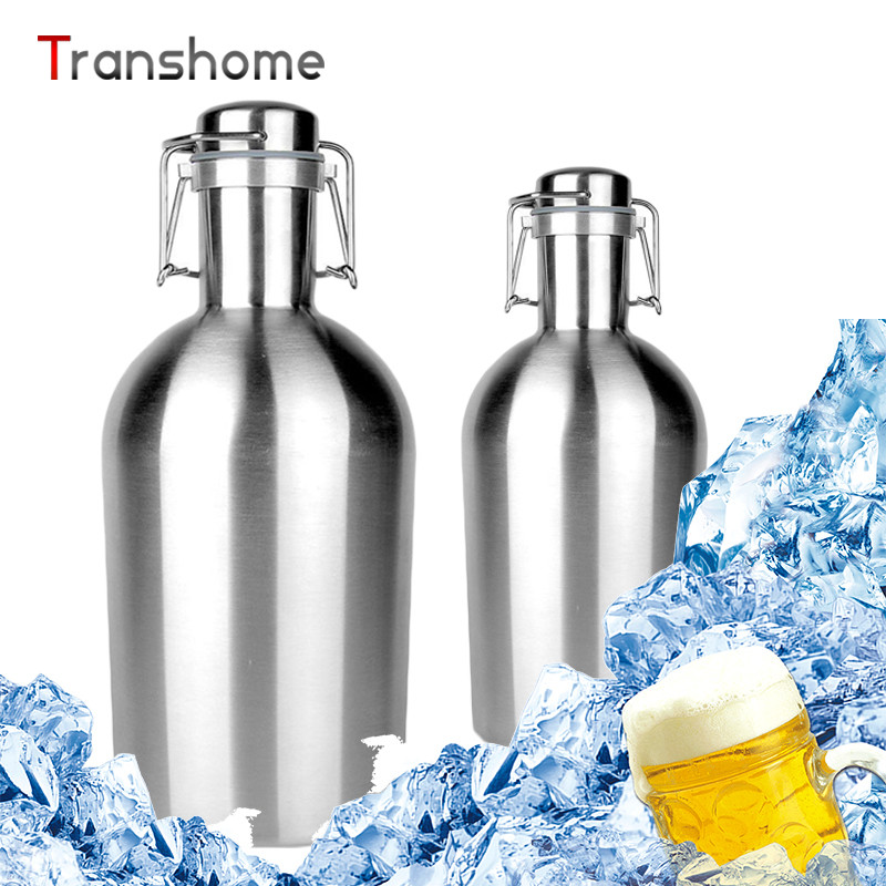 Transhome Stainless Steel Hip Flasks 1 5L Wine Barrel To Sway Insulation Beer Bottles Vacuum Double