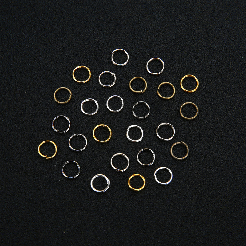 Aclovex 200pcs 4mm 5mm 6mm 8mm 10mm Open Jump Rings & Split Rings Gold Silver Color Metal Iron Connectors for Diy Jewelry Making gold abalone metal bell guitar bass knob for 6mm split shaft 3pcs