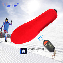 [Promotion] Winter Warm Electric Heated Insoles with Remote Control 1800mAh Battery Heating Shoe Insoles Pads For Skiing/Camping(China)