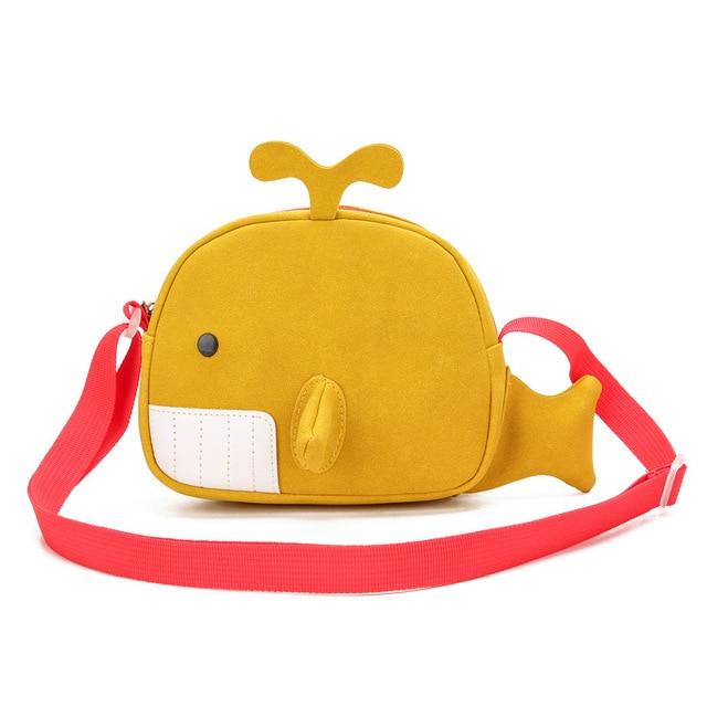 Kid's Funny Whale Shaped Messenger Bag 6