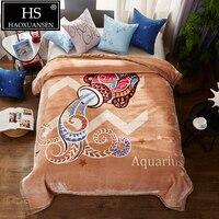 Модное супер мягкое созвездие Водолей облачно одеяло 3,0 КГ взвешенное одеяло s queen Размер покрывало зимнее теплое покрывало