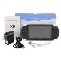 Coolbaby X6 Video Games Console 8GB Portable 4.3'' MP5 Handheld Game Players Ebook Camera Music built in 300 Gameing For GBA NES