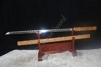 39 HANDMADE FORGED 1060 HIGH CARBON STEEL BLADE BAMBOO WOOD SHAPE HAND MADE JAPANESE SWORD KATANA
