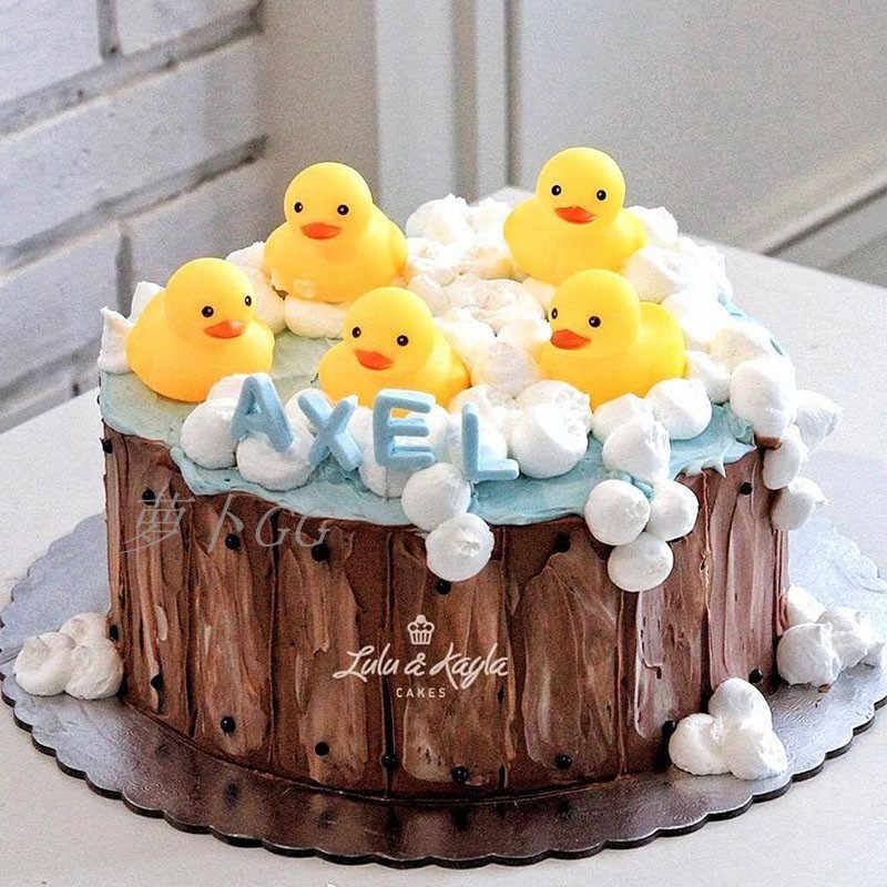 Awe Inspiring Animal Decoration Little Duck Toy Topper Cupcake Dolls Boys Kids Funny Birthday Cards Online Inifodamsfinfo