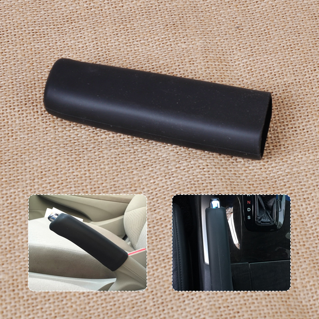 beler Car Auto Silicone Gel Parking Hand Brake Anti Slip Cover Case Sleeve Black for VW Audi BMW Mercedes-Benz Mazda3 Buick