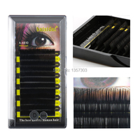 Free Shipping! Wholesale!10 x D curl 0.10 8mm,10mm,12mm 12 strips false eyelashes eyelash extension