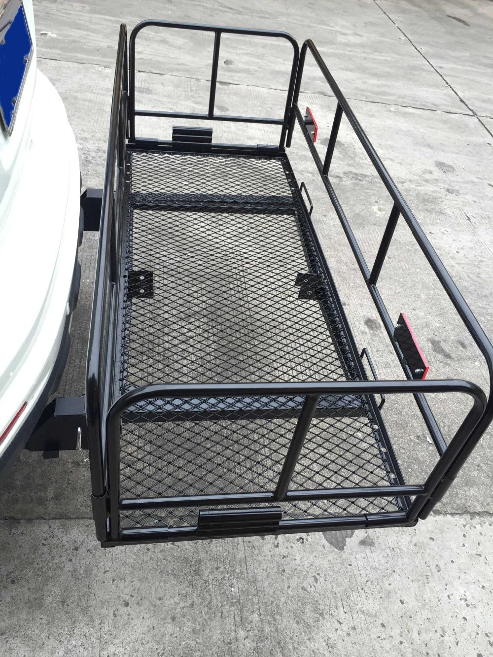 E2c 60 U0026quot  Folding Cargo Carrier 2  U0026quot  Hitch Mount Luggage Mesh
