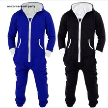 Onesie Costume Cosplay Winter Men Motion piece men zipper cardigan Hoodie Black Blue gray Pyjamas  Piece Sleepwear Adult