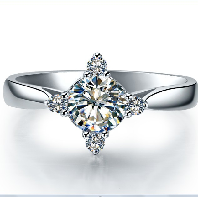 Classic 0 6ct customized moissanite ring solid 18k 750 for Lindenwold fine jewelers jewelry showroom price