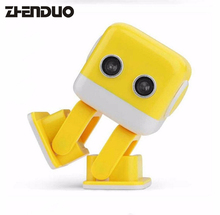 Zhen Duo Toys Mini Bluetooth Wireless Lovely Robot Smart Dancing Speaker HiFi Music Player Yellow & blue two colors Toy Gift