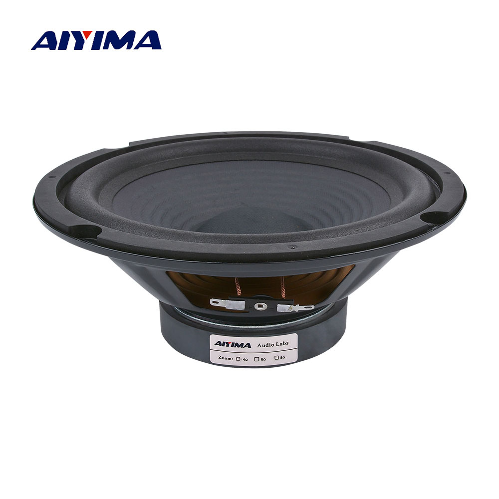 AIYIMA 1Pc 8 Inch Midrange Bass Speakers 8 Ohm 200W 35 Core 100 Magnetic Audio Speaker Woofer LoudSpeaker DIY For Home Theater