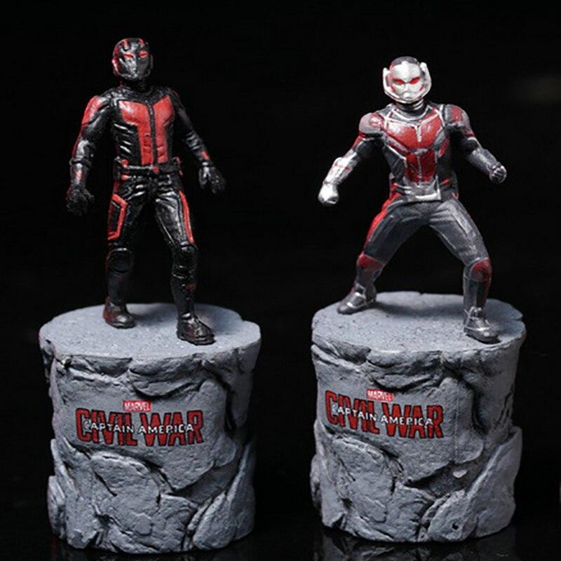 Marvel Captain America Civil War Ant-Man Statue Ant Man  PVC Figure Collectible Model Toy 6.5cm KT3702