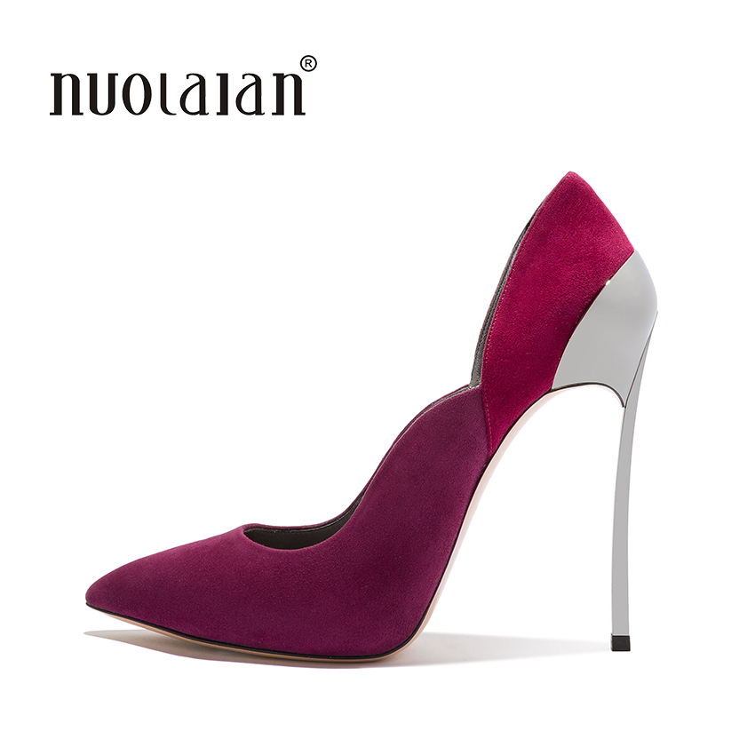 2018 Top Quality women pumps Stilettos high heel pumps shoes for women sexy pointed toe high heels party wedding shoes woman 2018 pointed toe high heels wedding shoes for brides brand designer fashion sexy evening high heels women stilettos nysiani