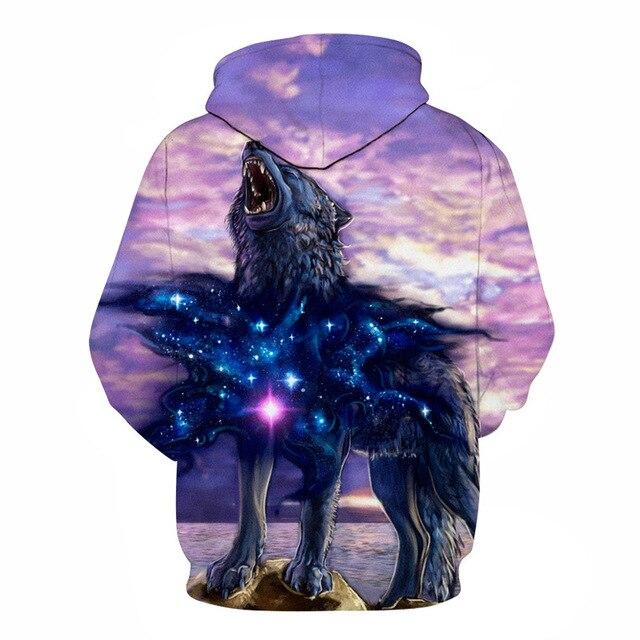 3D Sweatshirts Wolf Hoodies Tracksuits Tops 2
