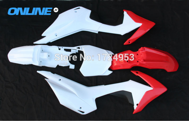 New CRF110 Plastic PARTS fairing cover kits FOR offroad motorcycle dirt pit bike CRF110 2013 2014 2015 BOSUER PH11