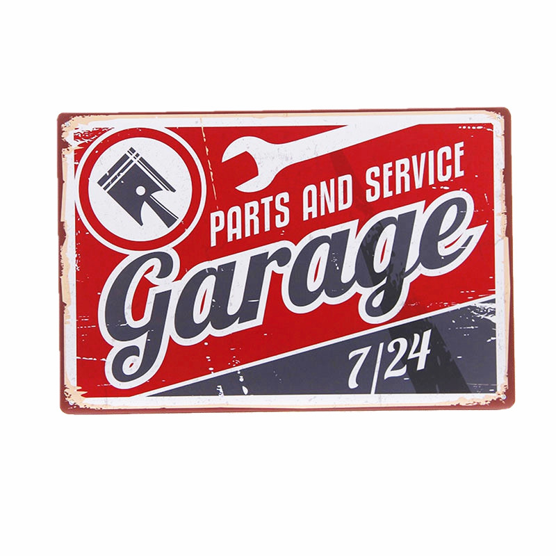 PARTS AND SERVICE Garage Vintage Home Decor Tin Sign 8x12 Bar Pub Garage Wall Painting Metal Sign Decorative Iron Plate A136