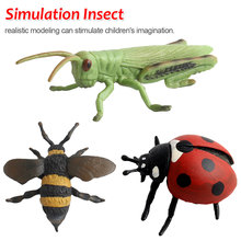 Plastic Simulation Insect Model Decoration Figurine Toys Gift Stag Spider Ladybird Beetle Butterfly Figure Toys For Kids все цены