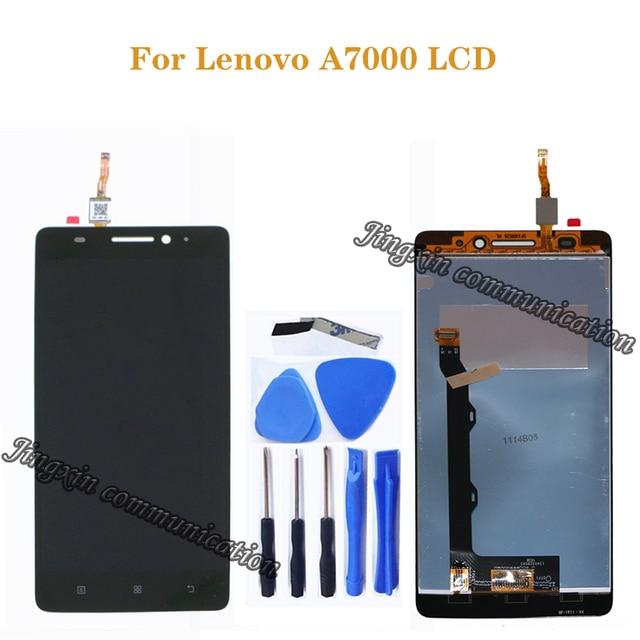 สำหรับ Lenovo A7000 LCD + หน้าจอสัมผัสหน้าจอดิจิตอล converter เปลี่ยนสำหรับ Lenovo a7000 จอแสดงผล LCD kit + เครื่องมือ