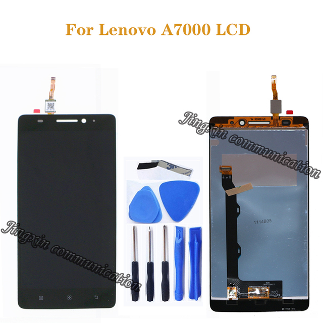 for Lenovo A7000 LCD monitor + touch screen digital converter to replace for Lenovo a7000 LCD display repair kit+tools