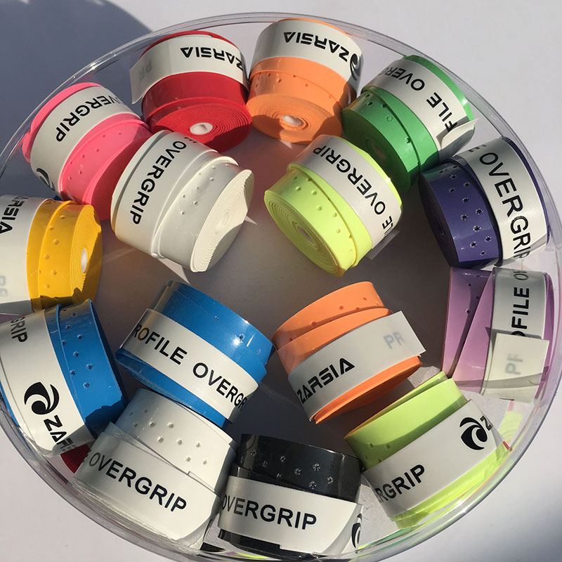 (60 Teile/los) Marke Zarsia Profil Griffig Tennisschläger Griffbänder, Badminton Grip Over, Tennisschläger Griff