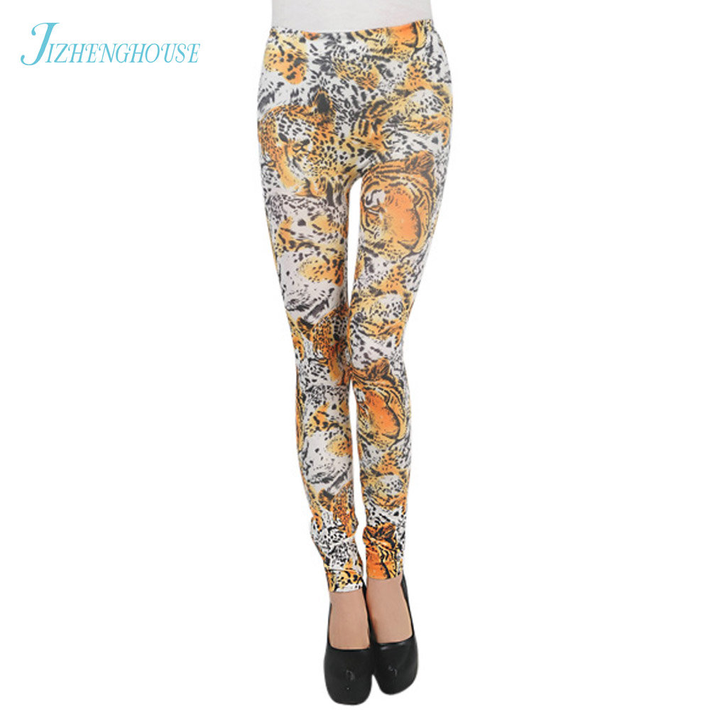 JIZHENGHOUSE Legging Digital Sexy Leggins Fashion Slim Leggins Printed Women Leggings Women Pants High Waist