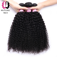 Mstoxic Afro Kinky Curly Brazilian Hair Weave Bundles 100% Human Hair Bundles Non Remy Hair Weave Extensions 8 30 Inch Bundles