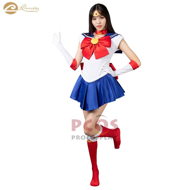 *Best Price&Ready to Ship* Sailor Moon Tsukino Usagi Serena Cosplay Costume mp000139