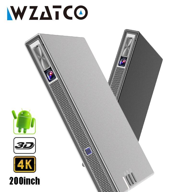 MINI portatile DLP Reale 3D Proiettore 4 K 5G WIFI Astuto di Android per Iphone Home Theater Beamer Full HD 1080 P lAsEr Video Proyector