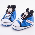 Cute Mickey Infant Shoes Girls Boys Toddler Chaussure Newborn Lace-up Sports Children Casual Sneakers Sapatinhos bebe Sapatos