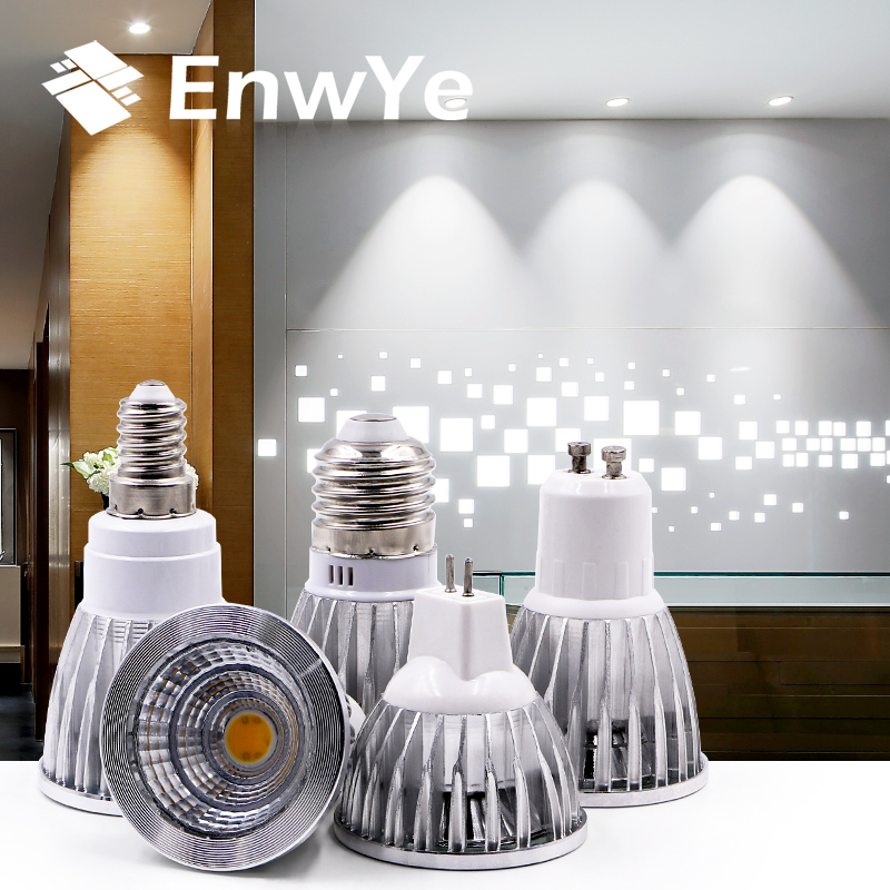 EnwYe COB LED Bombillas Lamparas 5W 7W  E27 E14 led Lamp Bulbs GU10 MR16 220V LED Bulbs LED SpotlightEnwYe COB LED Bombillas Lamparas 5W 7W  E27 E14 led Lamp Bulbs GU10 MR16 220V LED Bulbs LED Spotlight