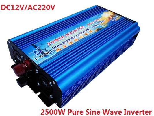 2500W 12/24/48VDC to 120/220/230/240VAC Digital Display Pure Sine wave Solar Inverter,50Hz Or 60Hz Off Grid Inverter home furnishings digital display time relay h5cn xzn spot new 220 vac 24 vdc