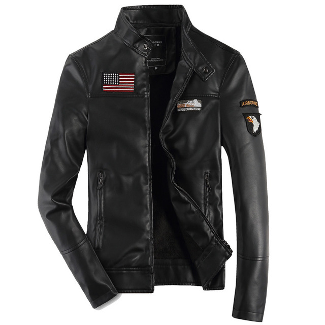 2cb9713b1d7 DIMUSI male Leather short slim clothing design stand collar casual  motorcycle leather jacket Men casual veste